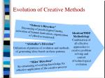 evolution of creative methods