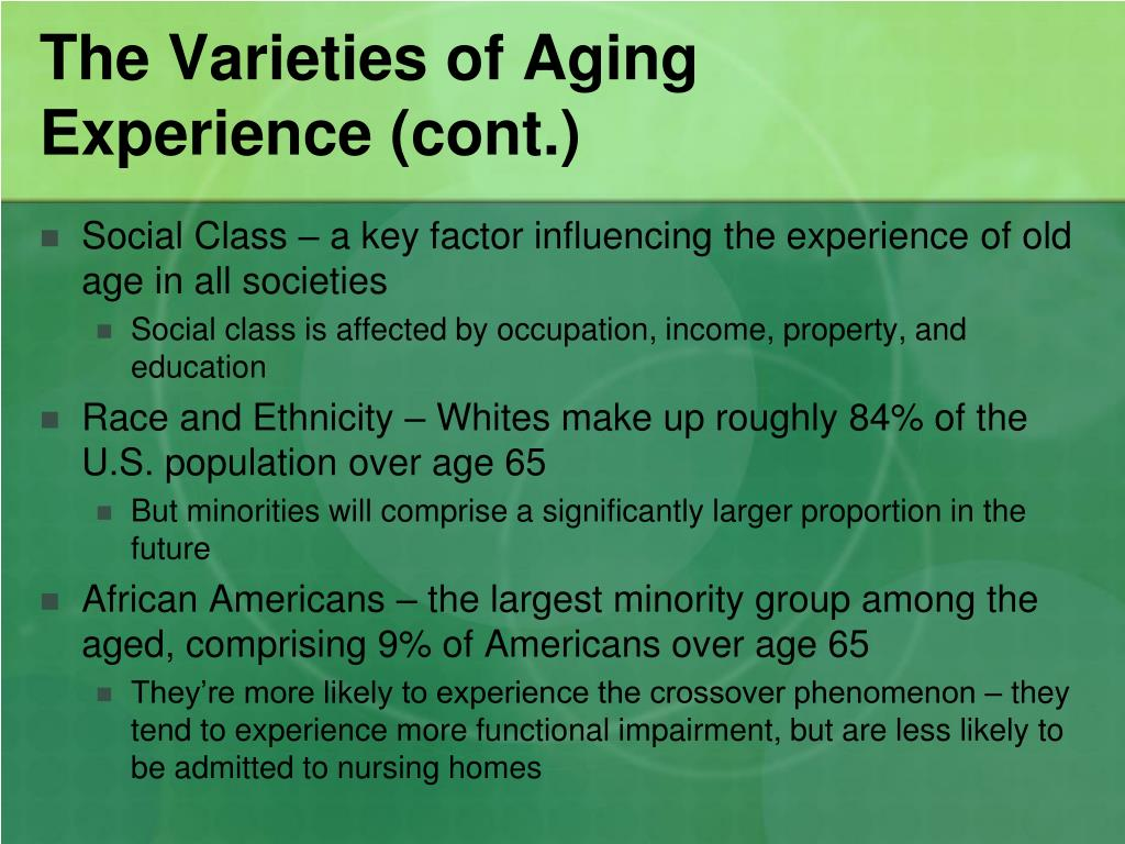 The Varieties of Aging