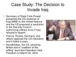 case study the decision to invade iraq30