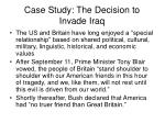 case study the decision to invade iraq31