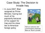 case study the decision to invade iraq34