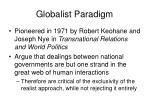 globalist paradigm