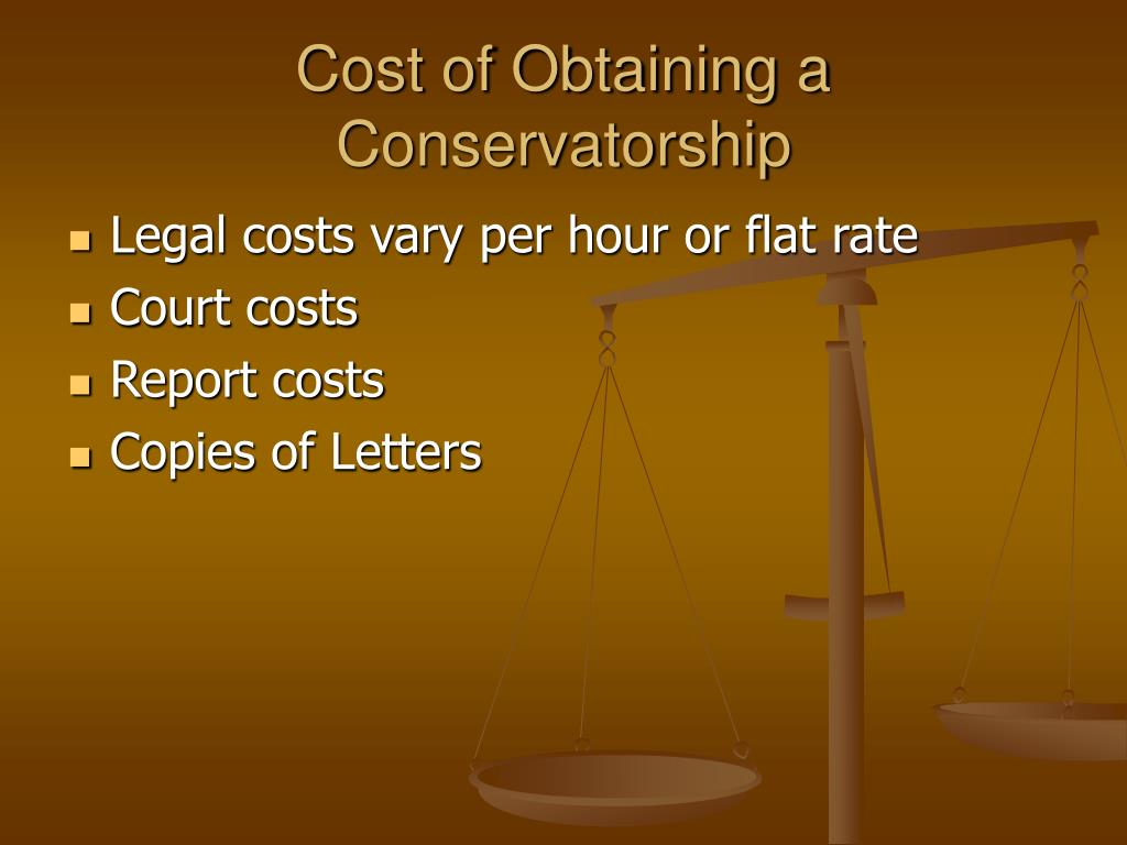 Cost of Obtaining a Conservatorship