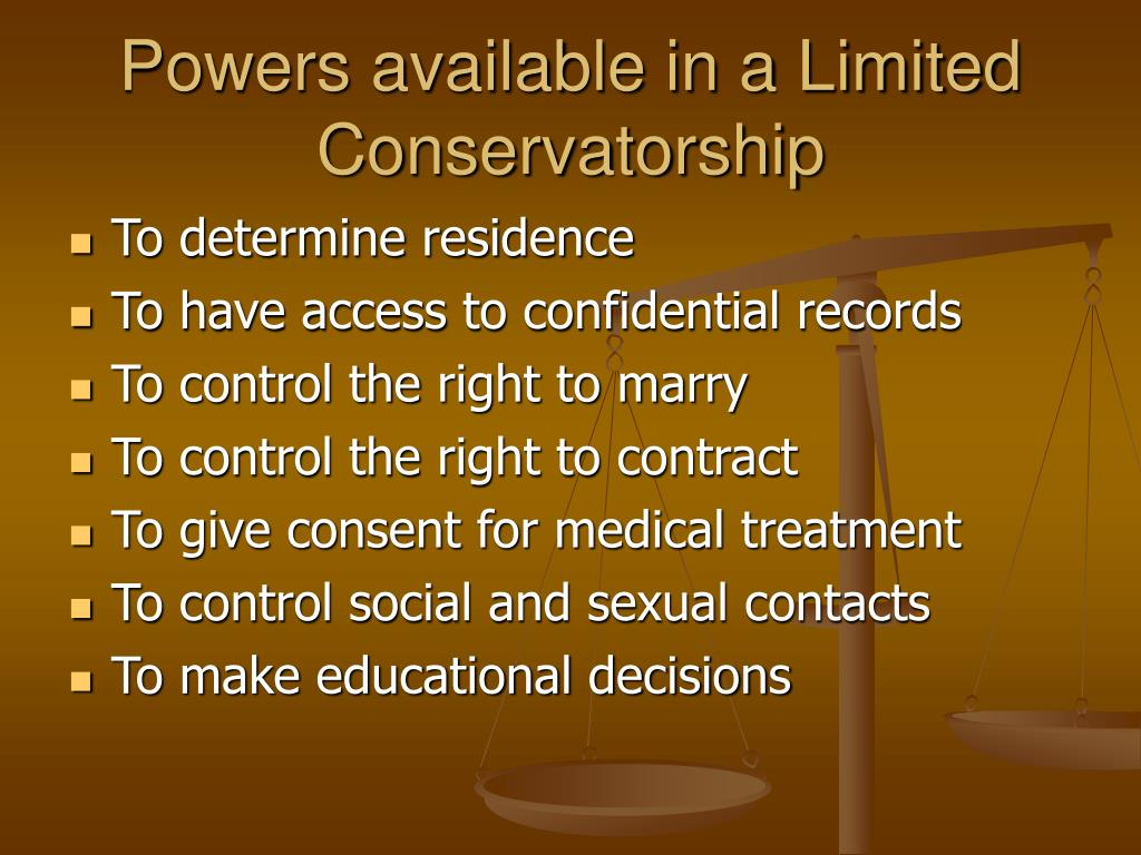 Powers available in a Limited Conservatorship
