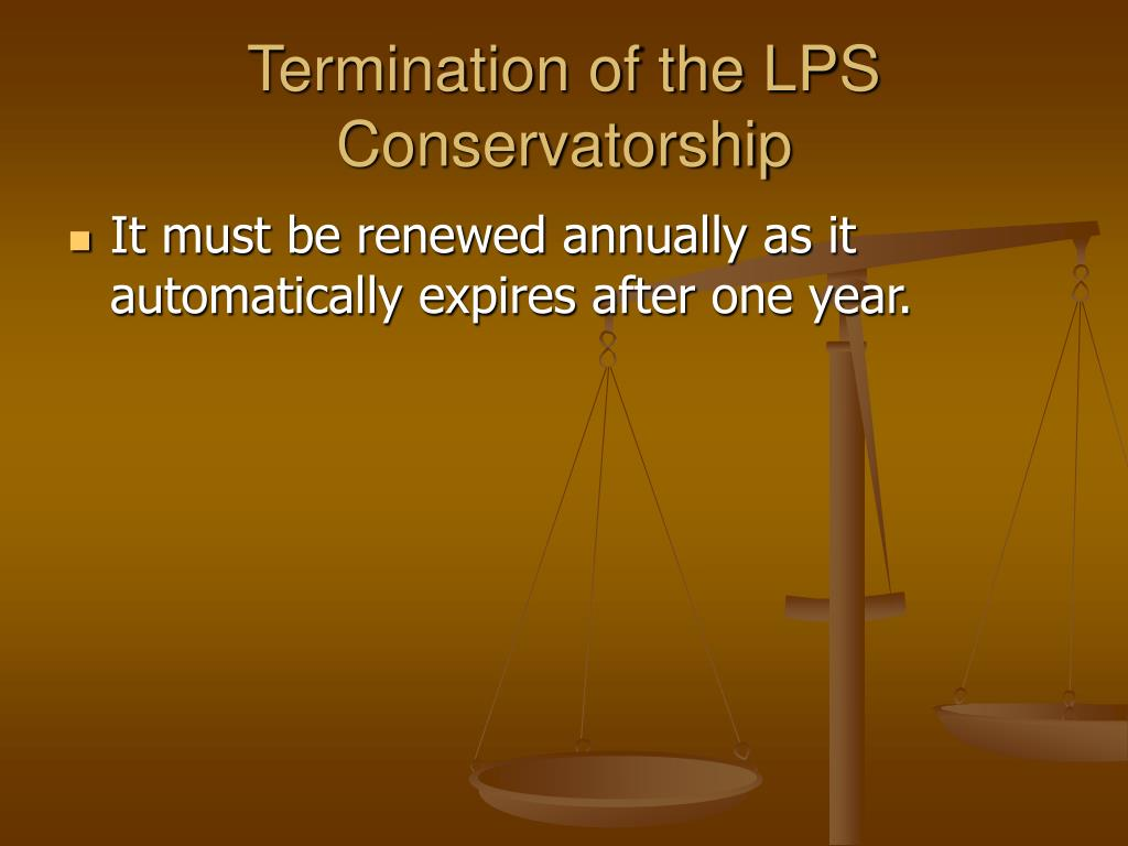 Termination of the LPS Conservatorship