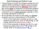 gas exchange and dalton s law