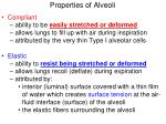 properties of alveoli