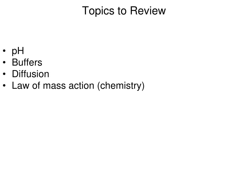 topics to review l.