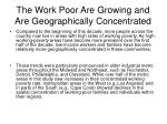 the work poor are growing and are geographically concentrated