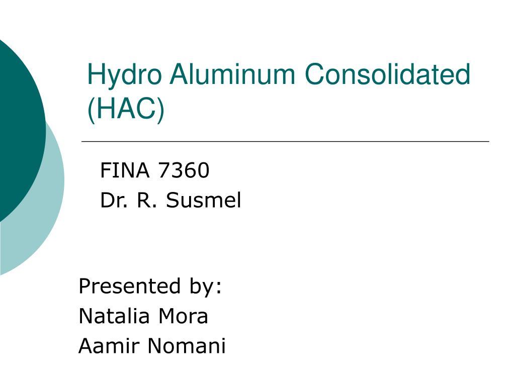 hydro aluminum consolidated hac l.