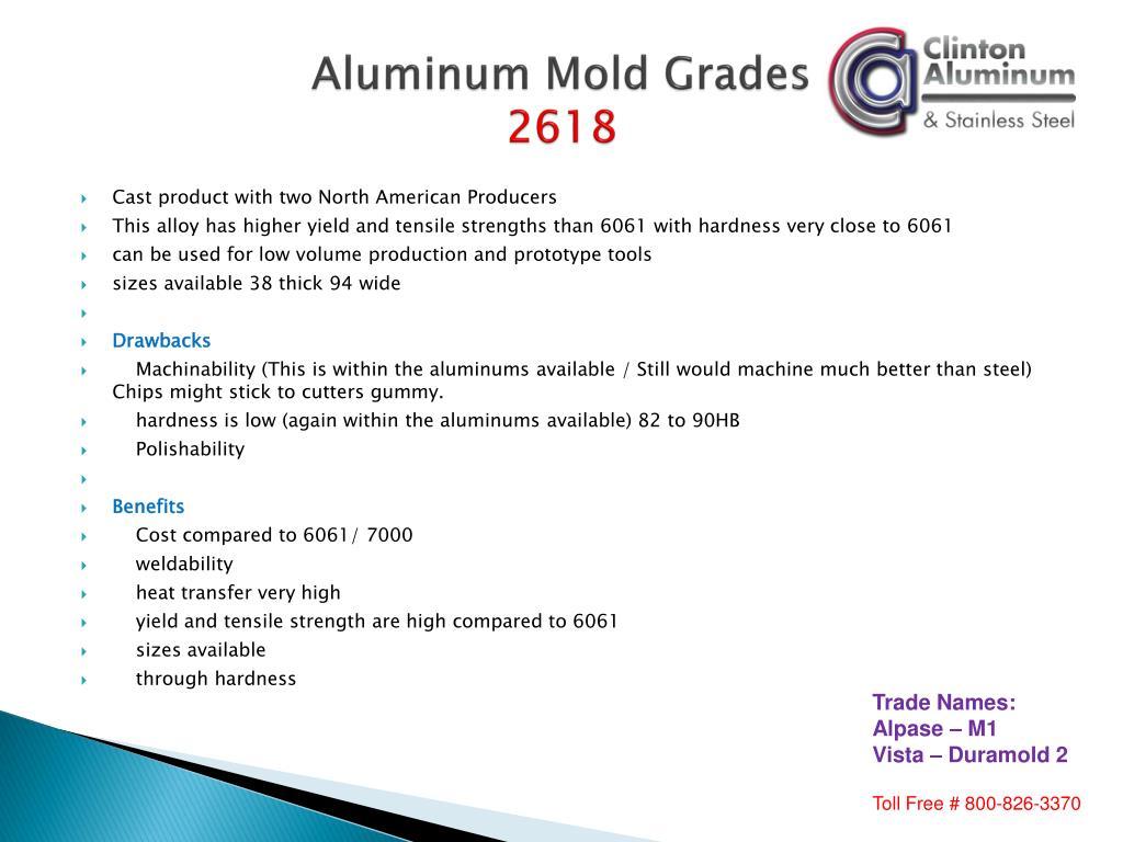 Aluminum Mold Grades