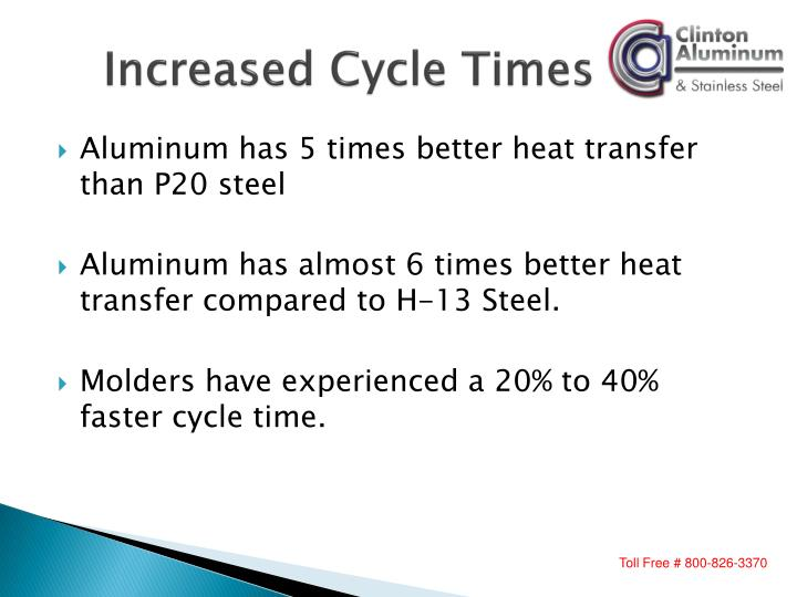 Increased cycle times