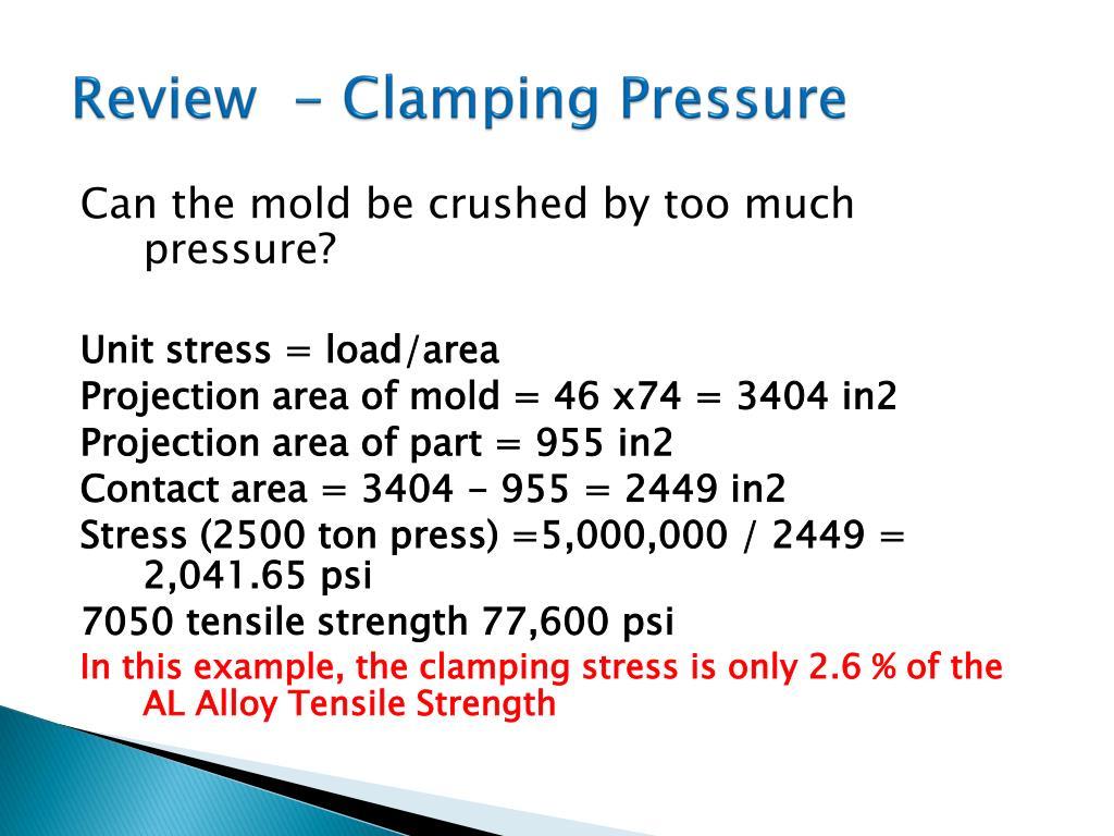 Review  - Clamping Pressure