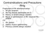 contraindications and precautions rhig