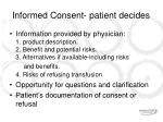 informed consent patient decides