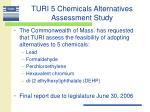 turi 5 chemicals alternatives assessment study