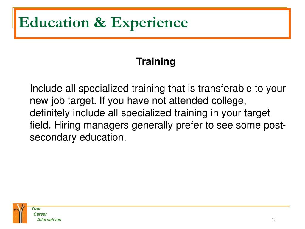 Education & Experience