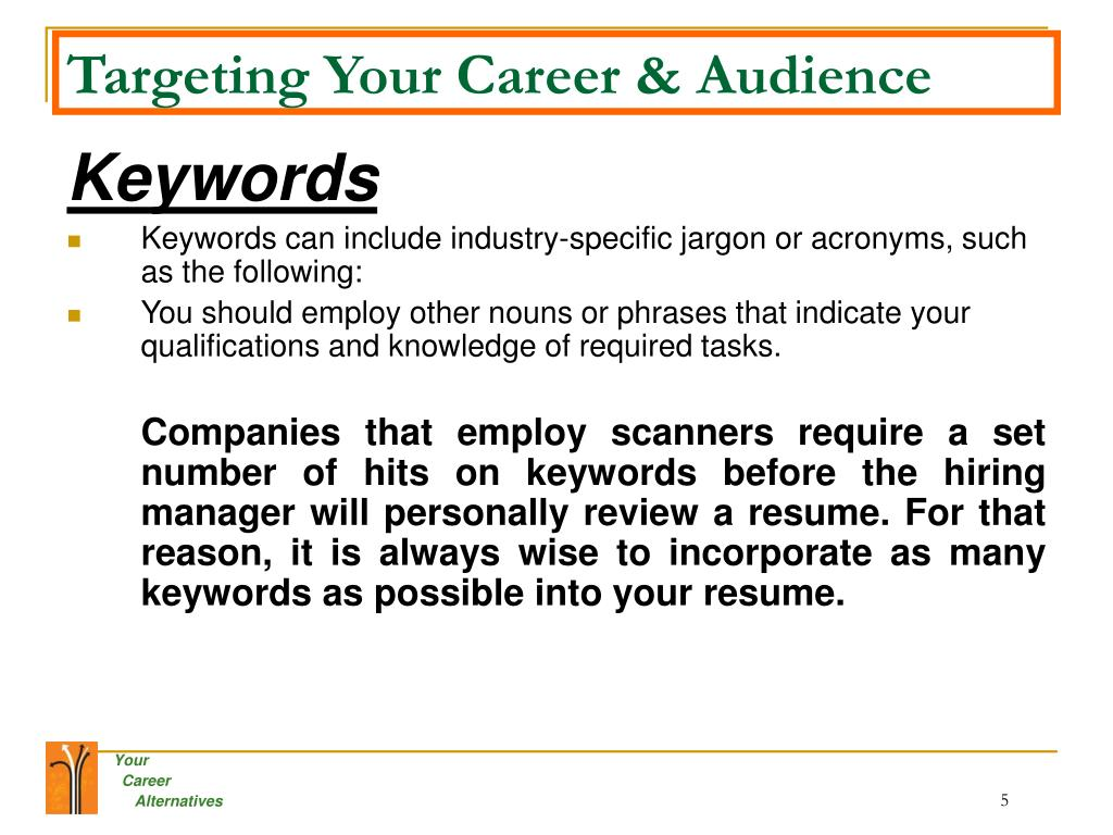 Targeting Your Career & Audience