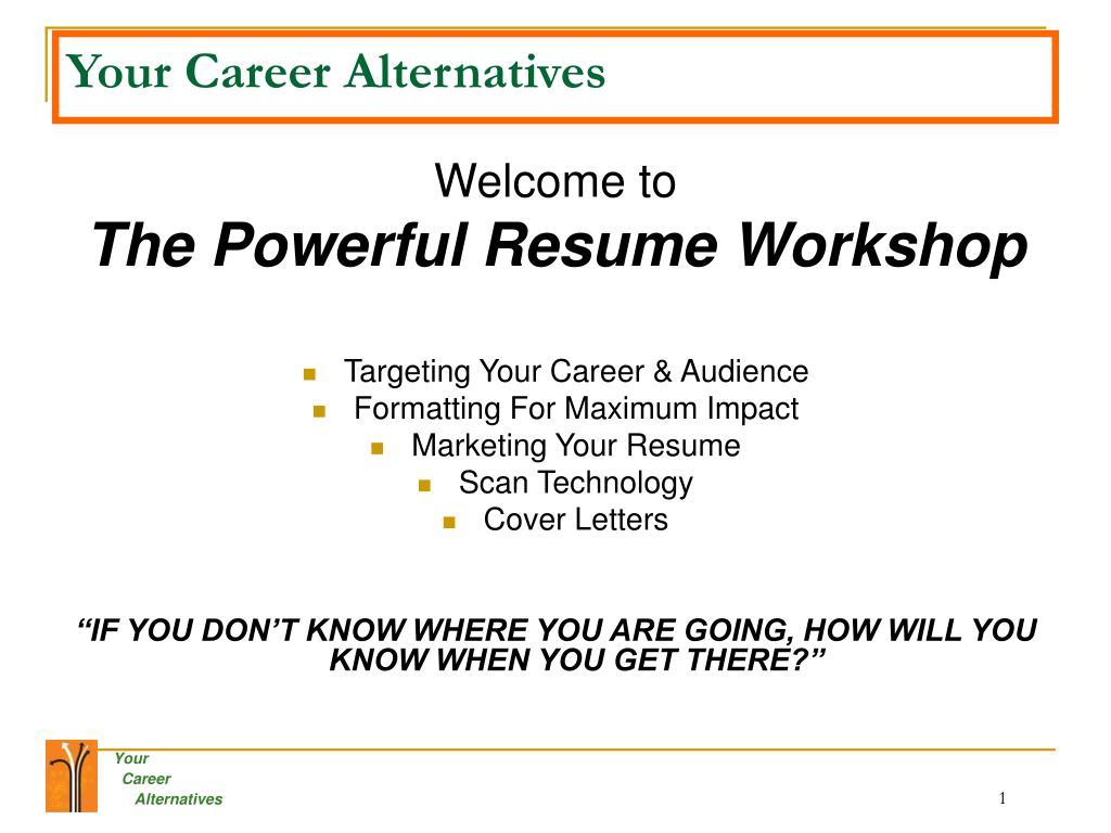 Your Career Alternatives