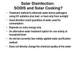 solar disinfection sodis and solar cooking