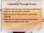 fellowship through prayer1