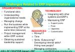 challenges related to erp implementations