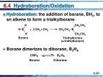 6 4 hydroboration oxidation