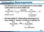 carbocation rearrangements29