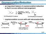 oxymercuration reduction