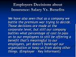 employers decisions about insurance salary vs benefits1