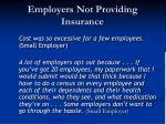 employers not providing insurance