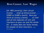 root causes low wages