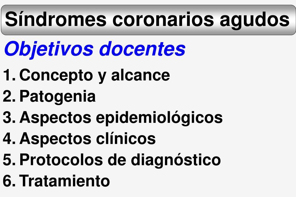 s ndromes coronarios agudos l.