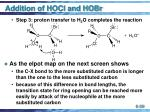 addition of hocl and hobr39