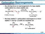 carbocation rearrangements30