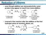 reduction of alkenes60