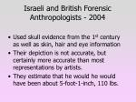 israeli and british forensic anthropologists 2004