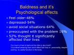 baldness and it s psychological effects