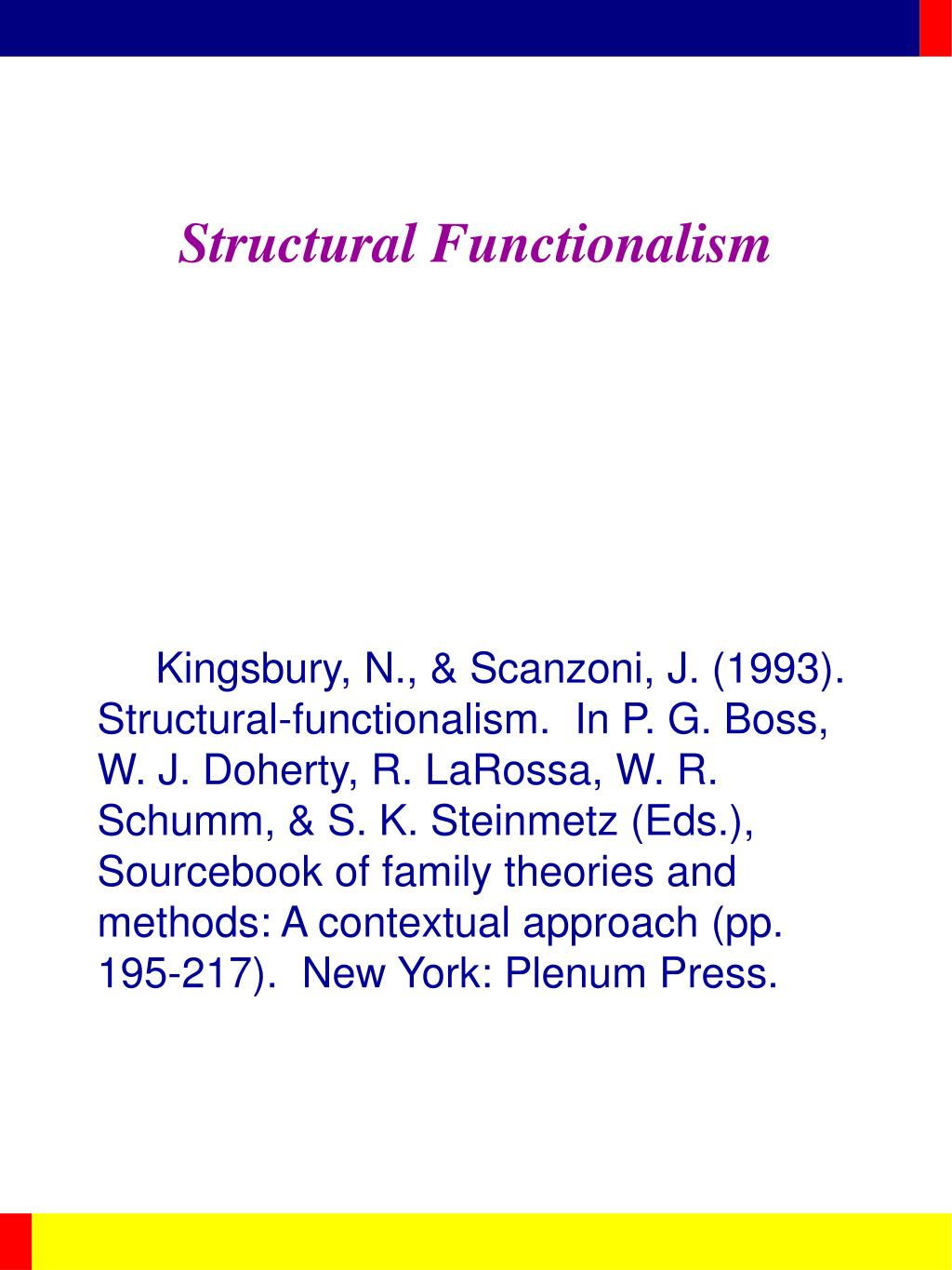 structural functionalism l.