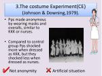 3 the costume experiment ce johnson downing 1979