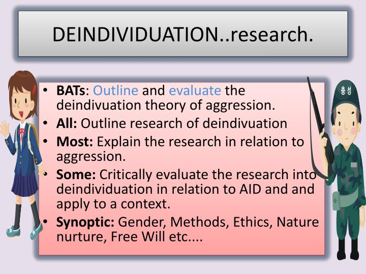 deindividuation research n.