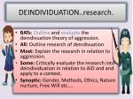 deindividuation research