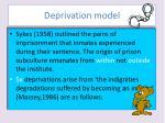 deprivation model