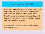 importation model
