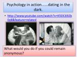 psychology in action dating in the dark