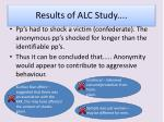 results of alc study