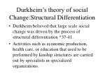 durkheim s theory of social change structural differentiation
