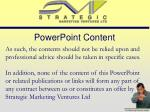 powerpoint content