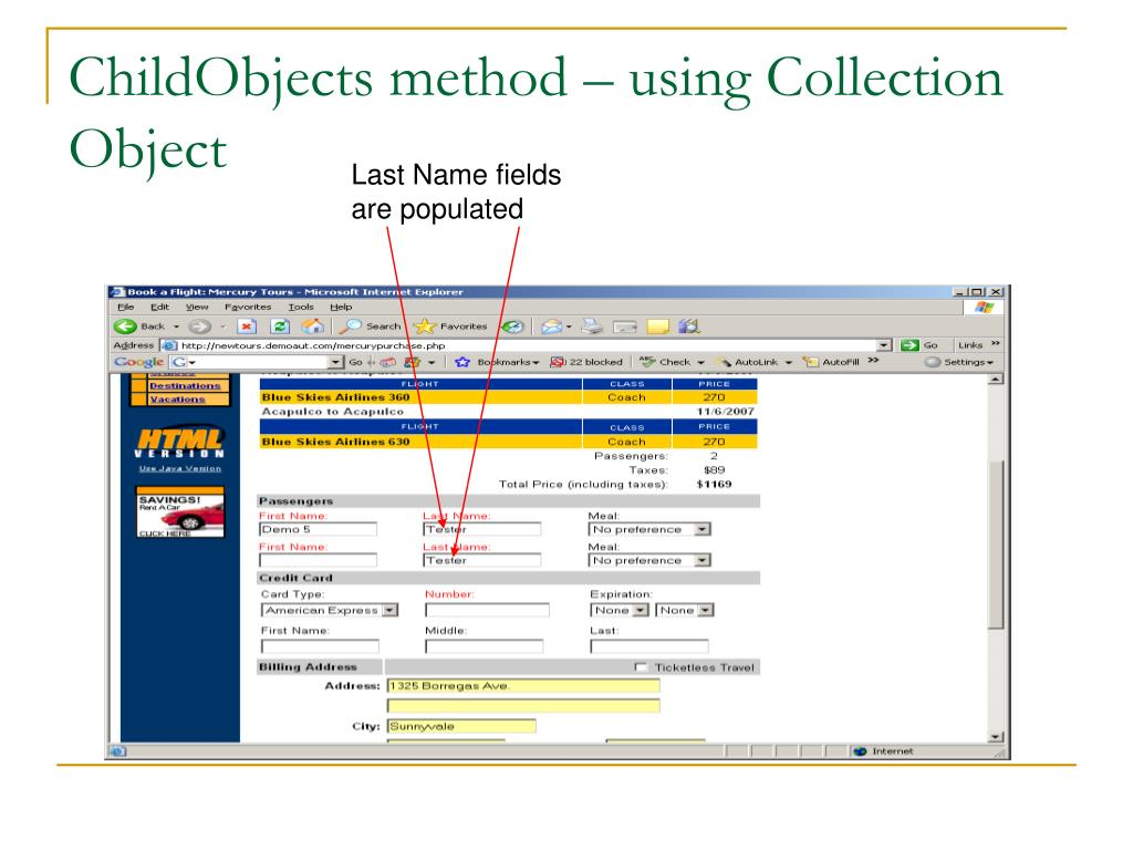 ChildObjects method – using Collection Object