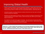 improving global health